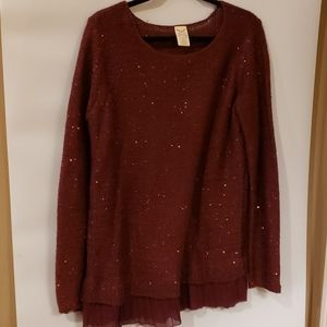 4/$25 Faded Glory burgundy blouse XL